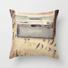 VIntage Polaroid SX-70 Throw Pillow