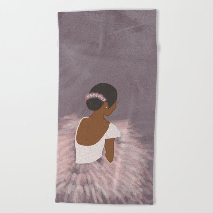 Ballerina Dancer  Beach Towel