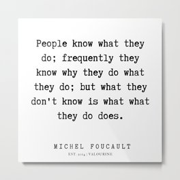 1     Michel Foucault Quotes   200119 Metal Print
