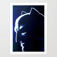 DARK HERO BLUE Art Print