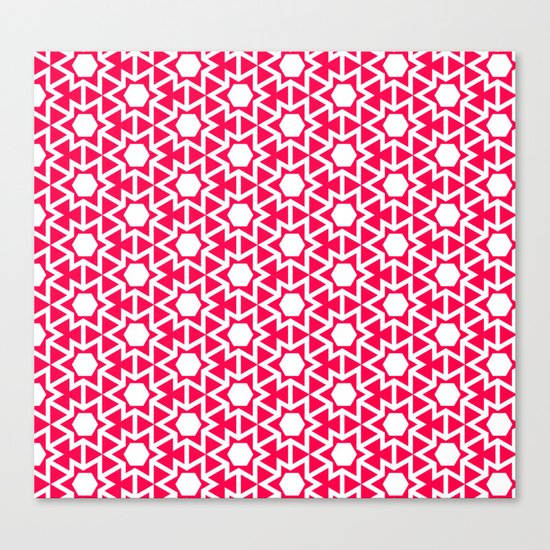 Zoutman Neon Pink Pattern Canvas Print