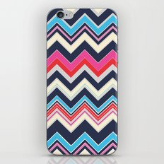 Navy Pink Chevron iPhone & iPod Skin