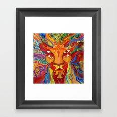 Lion's Visions Framed Art Print
