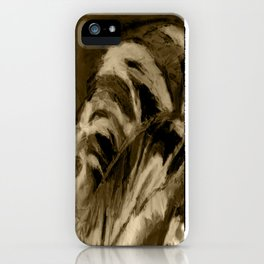 Unique Brown Abstract iPhone Case