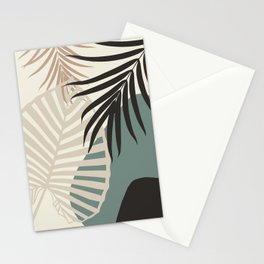 Minimal Tropical Palm Leaf Finesse #2 #tropical #decor #art #society6 Stationery Cards