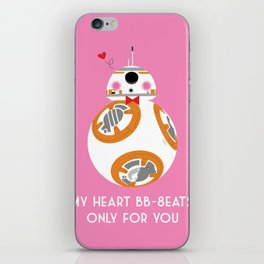 My Heart BB-8eats Only For You iPhone Skin