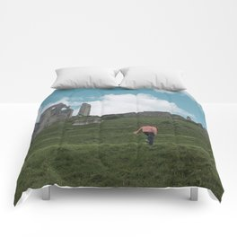 Corfe Castle and the Sky medieval Comforters