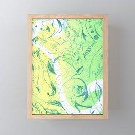 Green Doodle Framed Mini Art Print