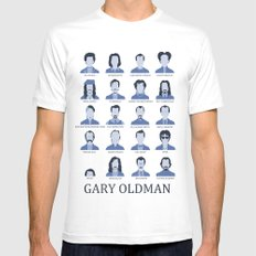Gary Oldman White Mens Fitted Tee LARGE