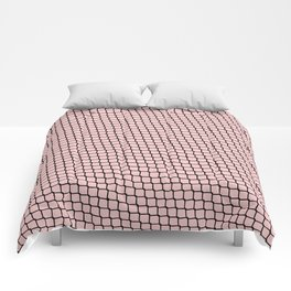Chain link Black on Blush Comforters