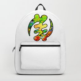 Gye Nyame Green and Gold Backpack