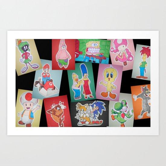 Cartoon Family Art Print