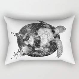 Cosmic Turtle Rectangular Pillow