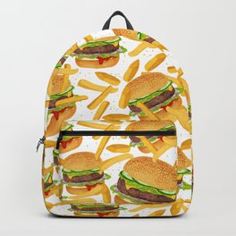 hamburgers and french fries pattern Backpack