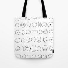 56 faces Tote Bag
