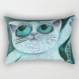 """Chubby kitten (""""Duckó"""") by Verabella Rectangular Pillow"""