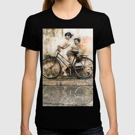 Kids on Bicycle - Reflections of Penang T-shirt