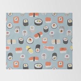 Sushi Roll Maki Nigiri Japanese Food Art Throw Blanket