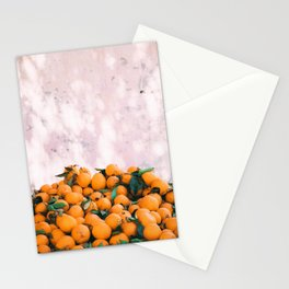 Orange & Pale Pink Stationery Cards