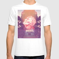 BIONIC WOMAN White SMALL Mens Fitted Tee