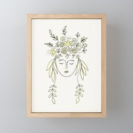 spring within drawing Framed Mini Art Print