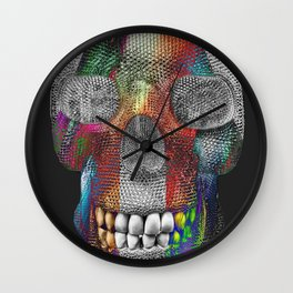 Tri Face Skelly Wall Clock