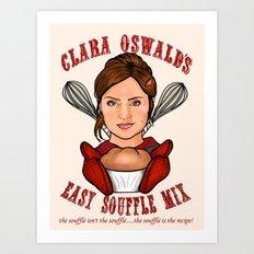 Clara Oswald's Easy Souffle Mix Art Print