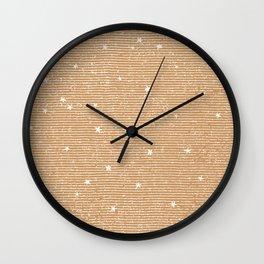 Sideral Heavens - Gold Wall Clock