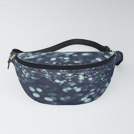 Sparkling Blue Summer Night Lady Glitter #2 #shiny #decor #art #society6 Fanny Pack