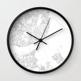 Lisbon, Portugal Minimalist Map Wall Clock