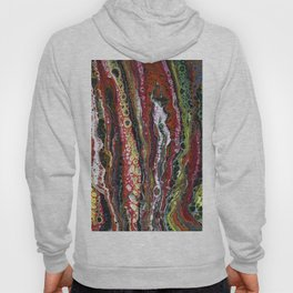 The Reef - Original, abstract, acrylic, fluid painting Hoody
