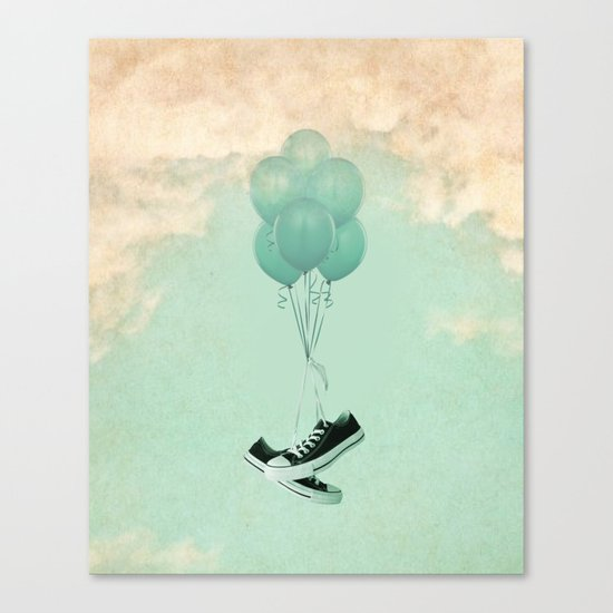 Up Cycleing Canvas Print