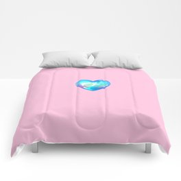 Crystal Heart Solo Version - Pink BG Comforters