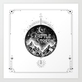 Rattle The Stars BW Art Print