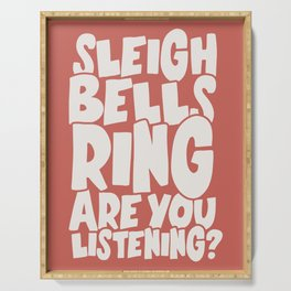 Sleigh Bells Ring Serving Tray