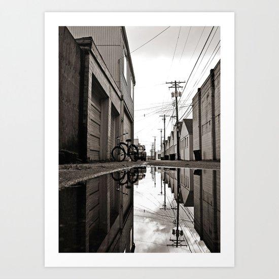 South Tacoma alley Art Print