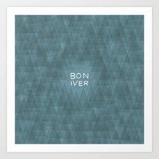 BON IVER Art Print