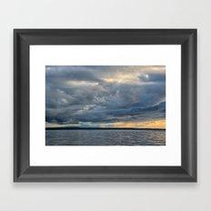 Sunbeams through the Rain Framed Art Print