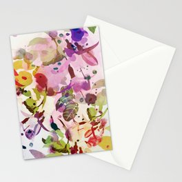 multicolore abstract fuchsia Stationery Cards