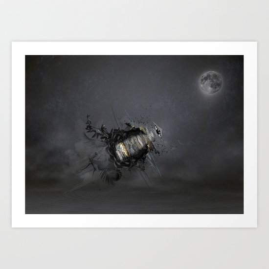 Overload the moon! Art Print