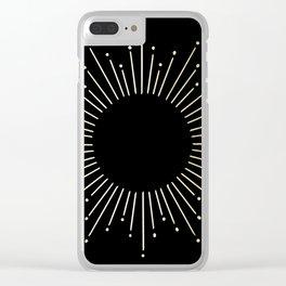 Mod Sunburst Gold 1 Clear iPhone Case