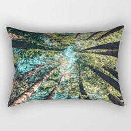 Treetop green blue Rectangular Pillow