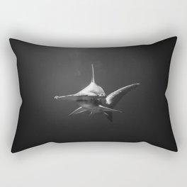 Hammerhead Shark (Black and White) Rectangular Pillow