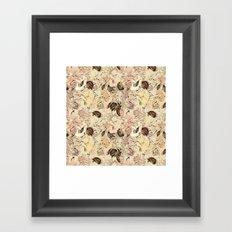 pattern Flowers Framed Art Print