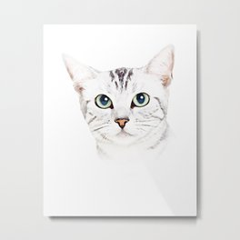 Cute Cat Puppy Metal Print