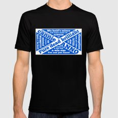 Scottish slang and phrases Mens Fitted Tee Black MEDIUM