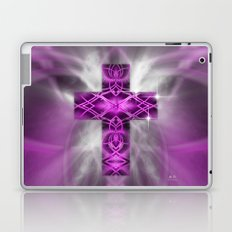 Purple Cross Laptop & iPad Skin