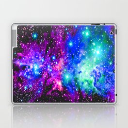 Fox Fur Nebula Galaxy Pink Purple Blue Laptop & iPad Skin
