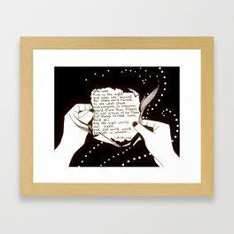 "Inktober, Day 19 ""Scorched"" #inktober #inktober2018 Framed Art Print"