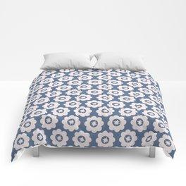 Vintage Blue Floral Comforters